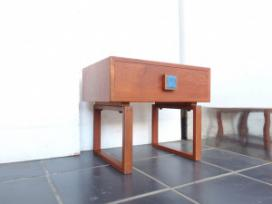 TEAK SMALL CHEST WI TILE