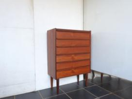 TEAK MIDDLE SIZE 6 DRAWERS