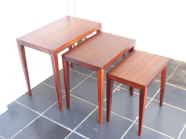 NEST OF TABLES ROSEWOOD HASLEV